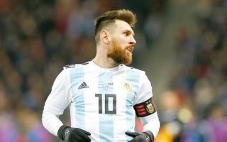 Messi, la gran figura del equipo argentino.