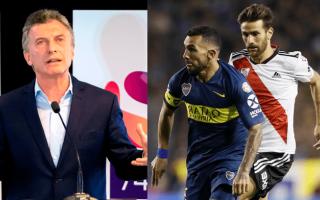 Macri confesó que serán 3 semanas sin dormir por la final Boca - River en la Libertadores.