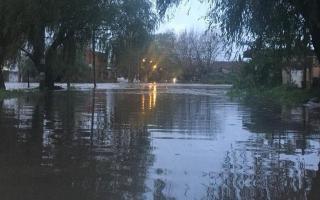 Otra vez, inundación en La Plata.