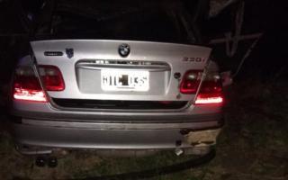 Así quedó el auto de Cortés tras el accidente en Ruta 6.
