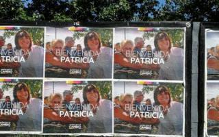 En Tres de Febrero recibieron a Bullrich con pintadas y afiches de bienvenida.