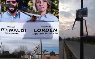 Así aparecieron carteles de campaña de Juntos por el Cambio. Foto: Infoséptima.