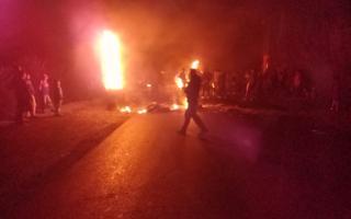 Hubo protestas por el apagón que ya lleva más de 48 horas.