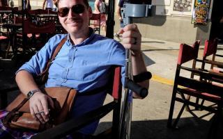 Christoffer Persson, el turista sueco que perdió la pierna en un asalto.
