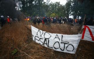 La Policía desalojó ferozmente a 750 familias de Abasto la semana pasada.