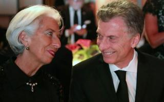 Macri junto a Lagarde, presidenta del FMI.