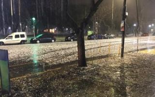 La tormenta generó importantes destrozos en la ciudad del norte bonaerense.