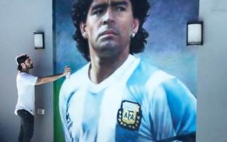 Mural de Maradona en Lomas de Zamora.