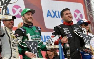 Los pilotos de Arrecifes Agustín Canapino(Chevrolet) y Valentín Aguirre (Dodge).