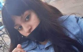 Foto de la menor difundida en redes por su madre junto a un texto alertando sobre su desaparición.