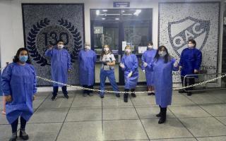 El Municipio acompañó el lanzamiento de la campaña del club Quilmes para la donación de sangre.