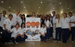 Los 29 nuevos enfermeros se suman al Hospital desde este miércoles. Foto: Frente a Cano.
