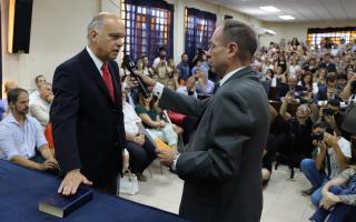 Lanús: Juró Grindetti y reasume para un segundo mandato