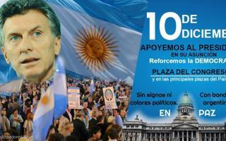 La invitación a la asunción de Macri.