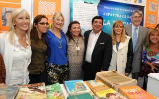 De Lucía y Espinoza, juntos en la Feria del Libro.