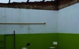 Establecimiento educativo de San Pedro en estado deplorable. Foto: Archivo.