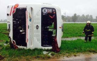 El chofer perdió el control del vehículo. Foto: LaNoticia1.