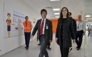 Aeropuerto El Palomar: Vidal visitó nueva Terminal de vuelos internacionales