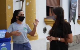 Eliana Díaz - Trabajadora del Área de Servicios como barrendera
