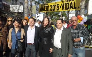 Vidal recorrió Ezeiza de cara a las Elecciones 2015.