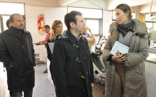 La normalizadora recorrió junto a escribanos las instyalaciones del predio de la Fundación Felices los Niños. Foto: BA Noticias.