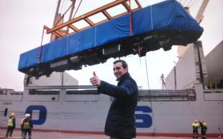 Nuevas unidades ferroviarias para la línea Belgrano Sur.