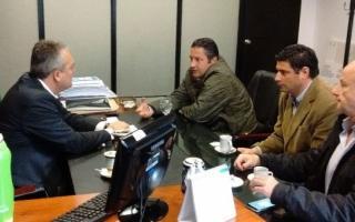 Cristian Breitenstein mantuvo una reunión con el candidato electo a Intendente de Merlo por el FpV, Gustavo Menéndez.
