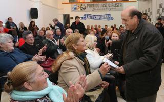 Juan José Mussi encabezó el acto en Berazategui.