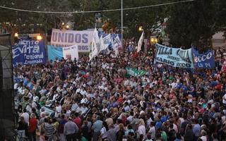 cientos de militantes acompañaron a Secco en su nueva asunción.