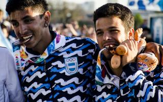 Modarelli -derecha- aportó la primera medalla para Argentina. Foto: Buenos Aires 2018.
