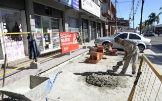 Tigre: El Municipio avanza en la construcción de nuevas veredas comerciales en Pacheco