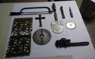 Parte de los elementos secuestrados.