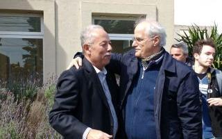 """""""Cuto"""" Moreno y Taiana, juntos en Tres Arroyos. Foto: Diario 3."""