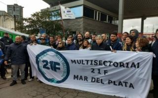 Bloquean la terminal del Puerto de Mar del Plata. Foto: Prensa CTAbsas
