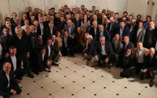 Macri reúne a jefes comunales de Cambiemos en Olivos. Foto: Prensa