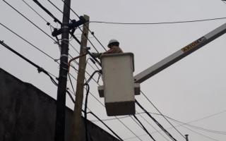 El servicio eléctrico se restableció en varias zonas de la provincia. Foto: Prensa