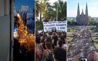 #8M Mar del Plata, Bahía Blanca y La Plata también marcharon en el Día de la Mujer