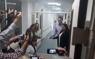 La inauguración fue encabezada por Mariano Barroso, el intendente local, y autoridades del nosocomio.
