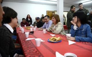 Servicio Cívico Voluntario en Catán: Bullrich y Finochiaro recorrieron la sede de La Matanza