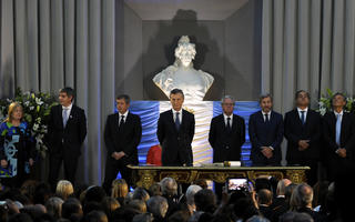 El flamante Gabinete de la Nación. Foto: Leandro Vellón para LaNoticia1.com
