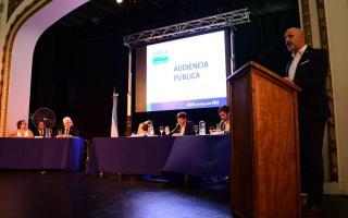 Audiencia pública por aumento en ABSA que pidió el 38% de incremento. Foto: Dib