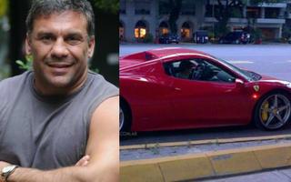 """""""Acero"""" Cali nuevamente en problemas por su Ferrari."""