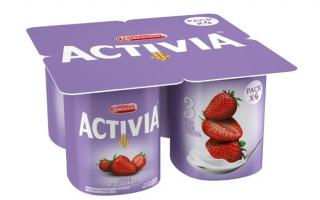 La nueva imagen de Activia presenta el color lila en sus envases. Foto: iprofesional.com