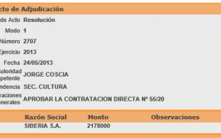 Captura de pantalla de Adjudicación Fito Páez.