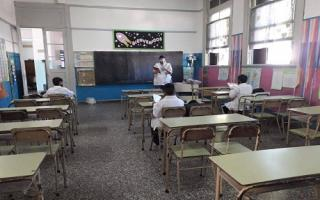Vuelta a clases presenciales en Alberti. Foto: Diario El Salado