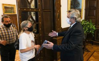 El presidente se reunió con los padres de Ursula Bahillo
