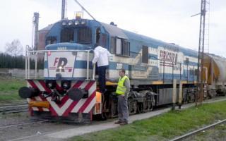 El tren partió de Olavarría con destino a Cañuelas