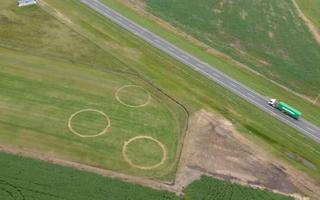 Los círculos desde una vista aérea. Foto: La Noticia 1