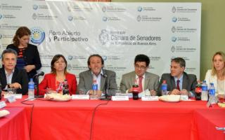 Arlía expuso frente a legisladores de ambas cámaras.
