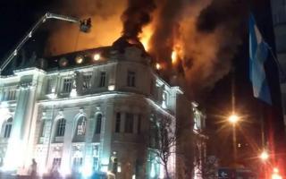Tras el incendio, reabre sucursal del Banco Nación en Bahía Blanca en edificio alquilado